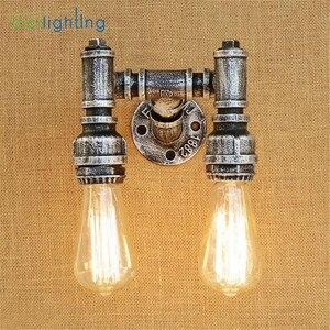 Image 5 - Aplique rústico Industrial de estilo Edison E27, lámpara de pared, accesorio de montaje