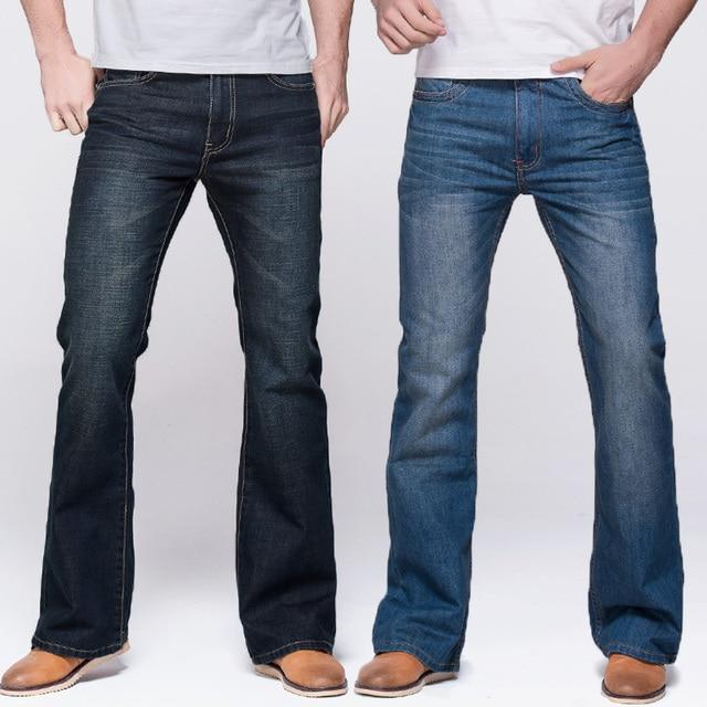GRG Mens Jeans Tradition Boot Cut Leg Fit Jeans Classic Stretch Denim Flare Deep Blue Jeans Male Fashion Stretch Pants