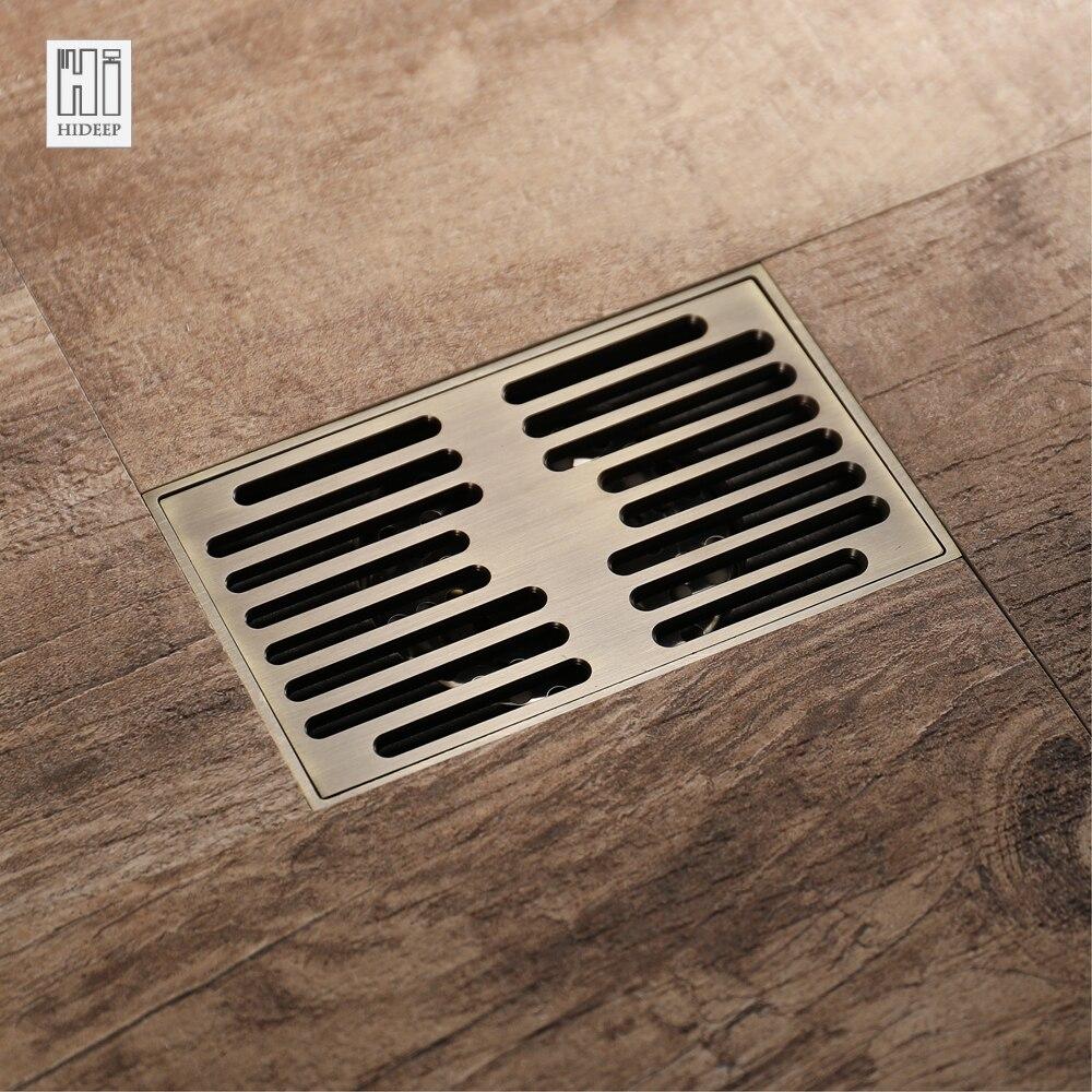 HIDEEP Antique Bronze Home Improvement Bathroom Sink & Bathtub Accessories Drains Brass Deodorant Bathroom Shower Floor Drain ...