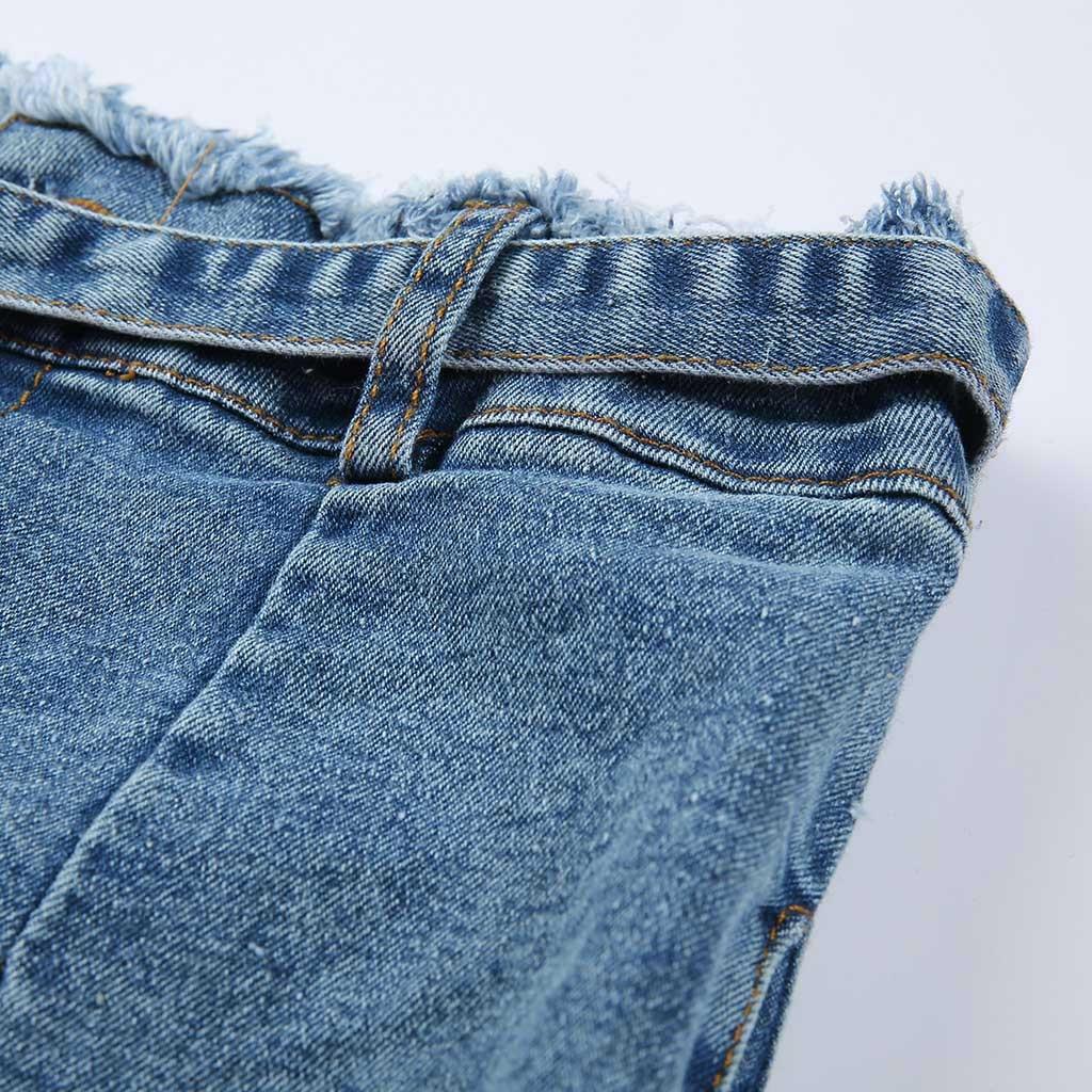 HTB19DMESwHqK1RjSZFEq6AGMXXaw modis Women Elastic Butto Tassel Loose  Denim Casual Small Feet  Slim Fit Jeans vaqueros mujer calca jeans feminina 2019#4