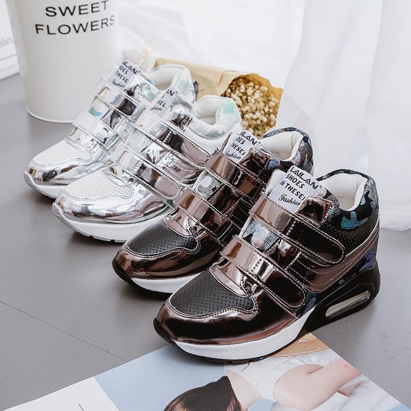 Women Shoes 2019 Fashion Sneakers Women basket femme Comfortable Chaussure Femme Women Magic paste Hovershoes Wedges Heels Shoes