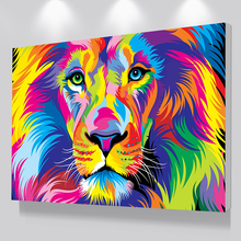 Large Size Abstract Colorful HD Print Canvas Lion Animal Oil Paintings Modern Wall Art Posters For Living Room Home Decor