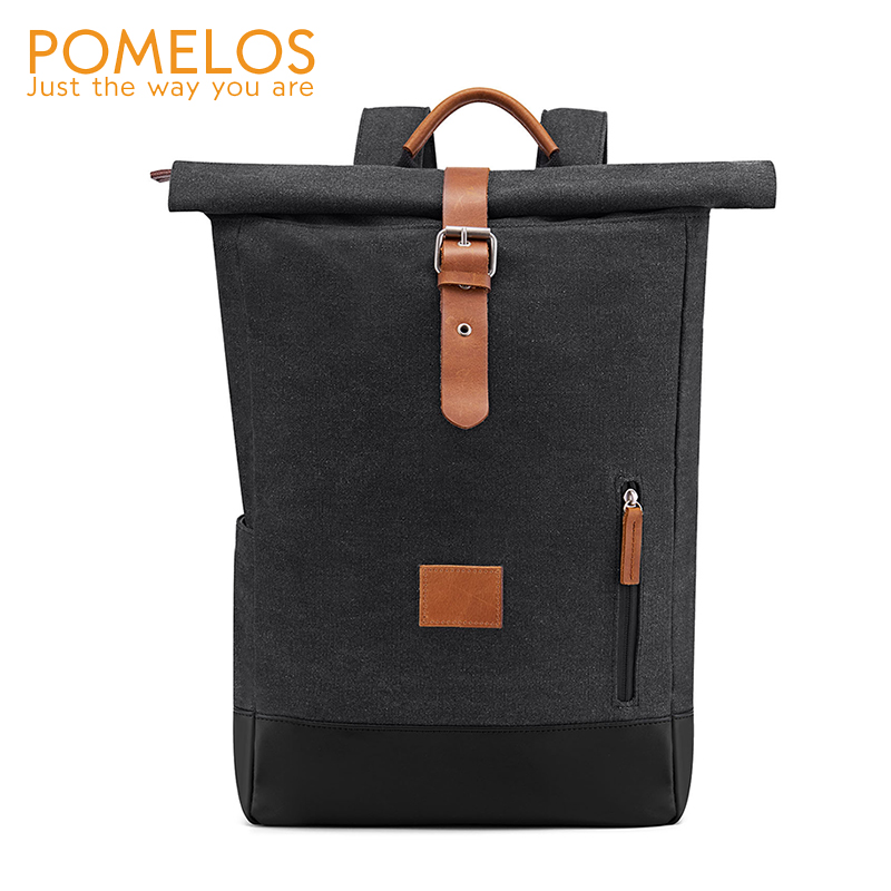POMELOS Backpack Men 2019 New Arrival High Quality Canvas Vintage Bacpack Travel Back Pack Designer Men Laptop Backpack School in Backpacks from Luggage Bags