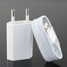 High quality EU 5V 1A AC travel Desktop wall charger With 8pin charging cable for iphone 5 5s se 6 6s 7 8 plus