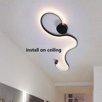 Black&White Frame Modern LED Chandelier AC110V 220V LED Ceiling Chandelier Lighting Fixture For Living Room Bedroom Led Lustres
