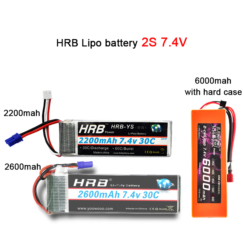 Image 2 - HRB Lipo 3S 4S 11.1V 14.8V 5000mah 2S 6S 7.4V 22.2V Battery 2200mah 2600mah 3300mah 6000mah T For TRAXXAS 1:10 RC Car FPV Boat-in Parts & Accessories from Toys & Hobbies