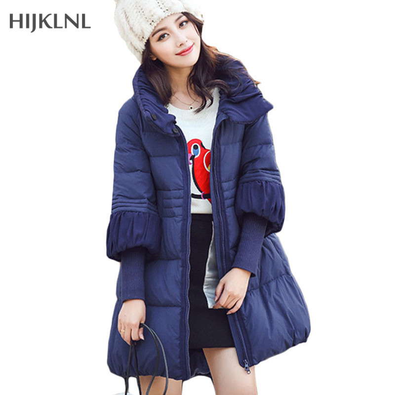Women's Winter Jacket Larger Size 2017 New Mujer Down Coat doudoune femme Fashion Maternity Wear Parkas Knit Cuff Coats LH469