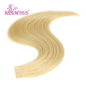 цена на K.S WIGS 10pcs Straight 100% Remy Human Hair Double Drawn Luxury Tape On Skin Weft Hair Extensions  20''