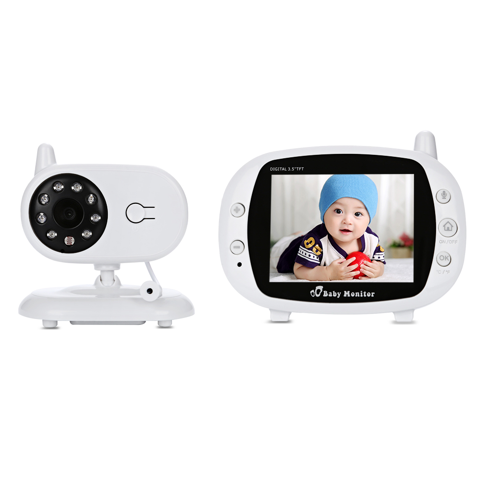 3.5 Inch Wireless Video Baby Sleep Monitor 2 Way Talk TFT LCD Video Surveillance Security Camera Night Vision Temperature Detect 7 inch video doorbell tft lcd hd screen wired video doorphone for villa one monitor with one metal outdoor unit night vision