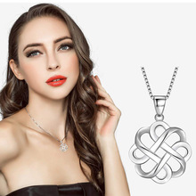 Fashion Pendant Necklace for Women Personality Creative Wavy Shape Simple Jewelry Gift