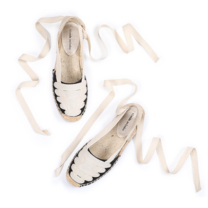 Image 3 - Shoes Woman Sandals Women Tienda Soludos Womens Eternity Flat Espadrilles, Canvas Casual Slip On Shoe With Elastic Band