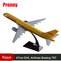 47cm Resin B757 DHL Airlines Plane Model Boeing 757 Airplane Airways Static Airbus Model DHL Cargo Aircraft Collection Toys Gift