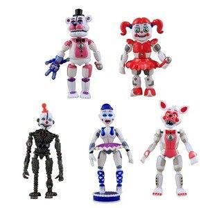 Image 2 - Figurines de cinq nuits à freddys, jouet figurines en PVC Foxy Fazbear FNAF, jouet pour cadeau de journée de lenfance, nouveauté