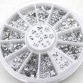 Diamante transparente Rhinestone Crystal Nail Art Salon Decal Stickers Tips de DIY de Los Brillos Decoraciones 5WG6 7H56