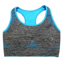 2016 New Women Racerback Sports Bra Yoga Fitness Stretch Workout Running Tank Top Padded Seamless