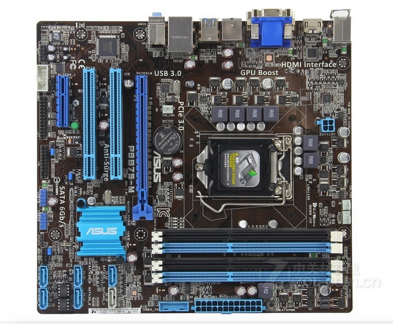 original motherboard ASUS P8B75-M DDR3 LGA 1155 USB2.0 USB3.0 32GB for 22/32nm cpu B75 Desktop motherboard Free shipping