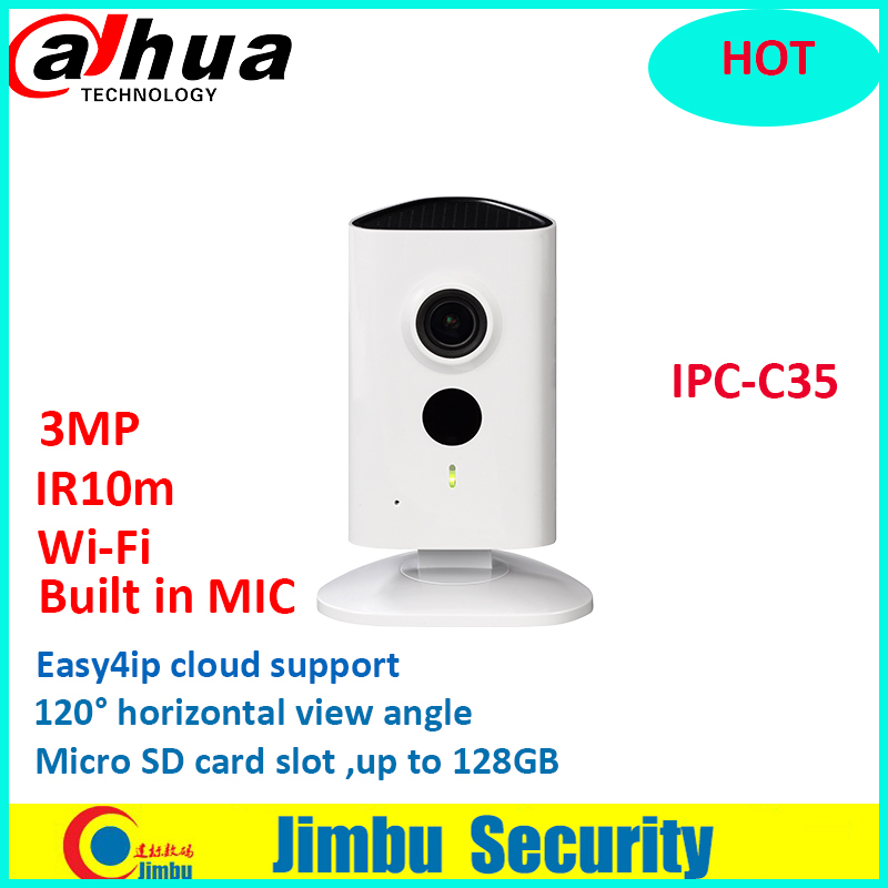 Dahua 3MP WiFi camera Camera IPC-C35 lens2.3mm IR10m built in MIC Easy4ip cloud Micro SD card up to 128GB without dahua logo
