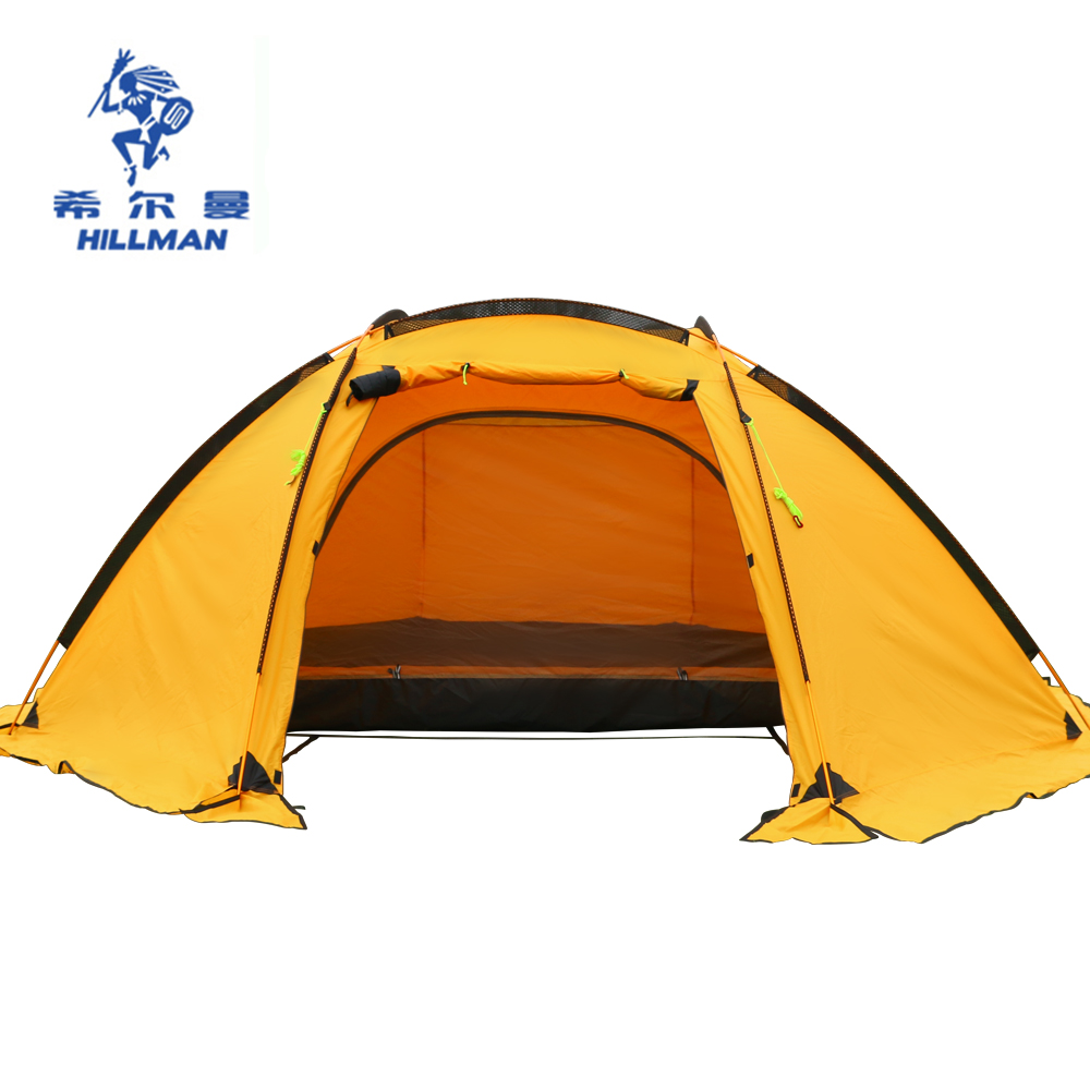 HILLMAN 3 4 MAN double layers tent big space aluminum poles 210T waterproof ultralight outdoor c&ing Spherical tent-in Tents from Sports u0026 Entertainment ...  sc 1 st  AliExpress.com & HILLMAN 3 4 MAN double layers tent big space aluminum poles 210T ...
