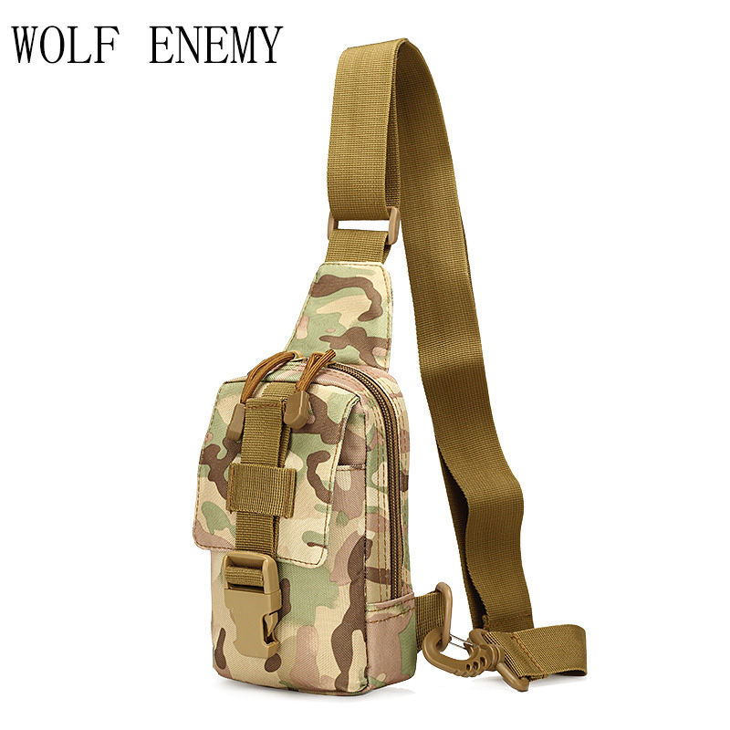 High Quality!Outdoor Tactical Nylon Sport Utility Camouflage Chest Bags Men Riding Climbing Shoulder Bag Diagonal Bag