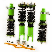 Green Coilover Kit for Honda Civic  EG EJ EH 88-00 fits 94-01 Integra DC DB Adjustable Ride  Height Shock Absorber Struts for mazda rx7 rx 7 fc3s 86 91 coilover suspensions kit shock absorber strut red