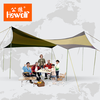 5m*5m 6-10 person big family canopy anti-UV beach fishing family party shady sun shelter waterproof outdoor camping awning tent