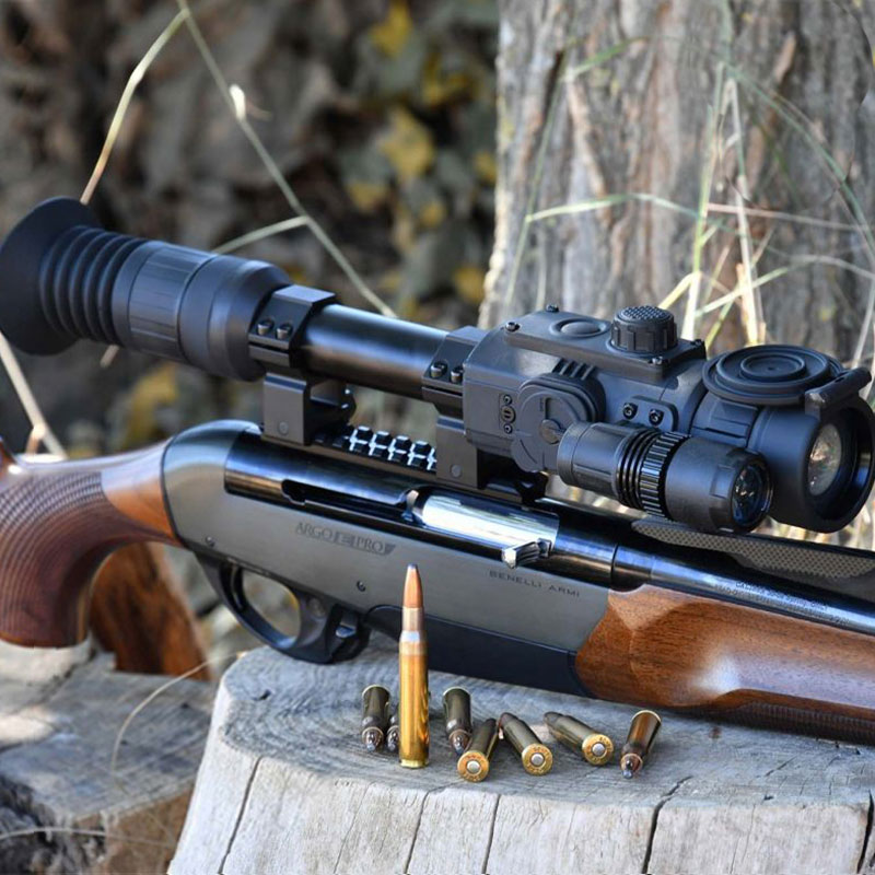 Digital Infrared Night Vision Rifle Scope Air Riflescope Gun Hunting RT 4.5X42/6X50 Red Dot Reticle 280m Visible Distance