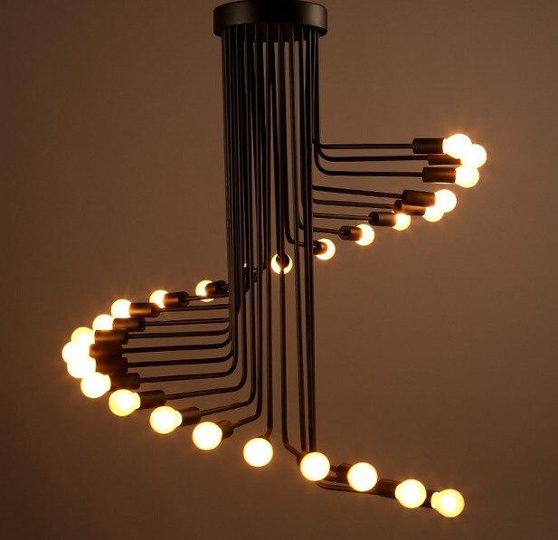 Vintage Spiral Chandelier Stage Lighting Fixture Ceiling