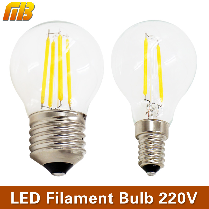 mingben retro edison led filament bulb e27 e14 220v 2w 4w. Black Bedroom Furniture Sets. Home Design Ideas