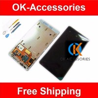 Black Color For Nokia Lumia 800 N800 LCD Display Touch Screen Digitizer Frame Assembly With Free