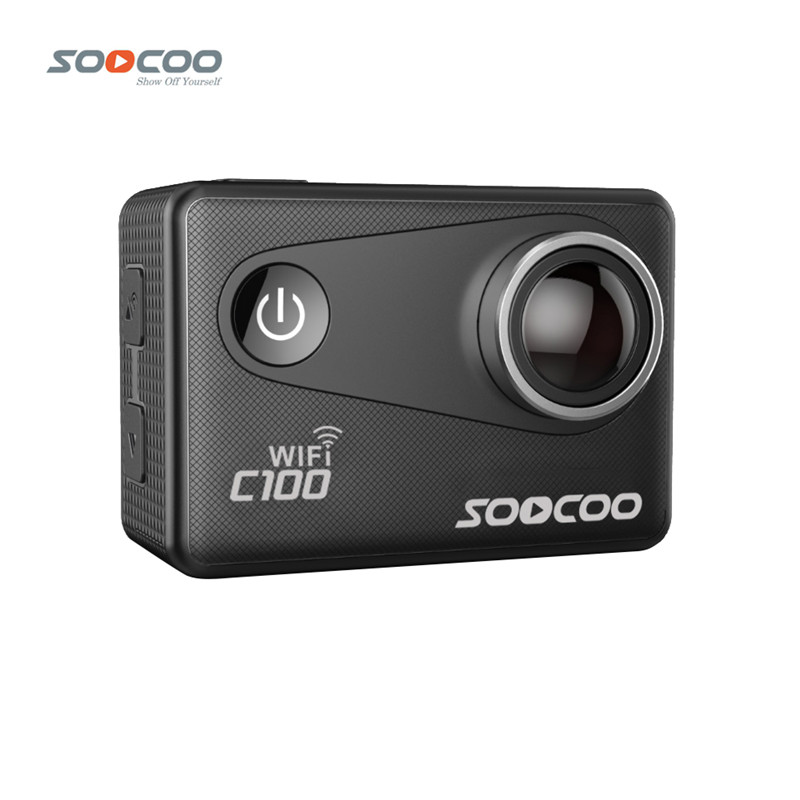 SOOCOO C100 4K Wifi Action Sports Camera Built-in Gyro with Option GPS Extension NTK 96660 20MP Diving Night Mode 5X Zoom DV Cam soocoo c30 sports action camera wifi 4k gyro 2 0 lcd ntk96660 30m waterproof adjustable viewing angles