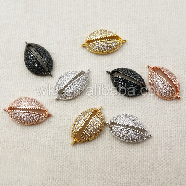 Wt c186 wholesale micro inlay cowrie shell pendants in 24k gold wt c186 wholesale micro inlay cowrie shell pendants in 24k gold unique design connector jewelry aloadofball Image collections