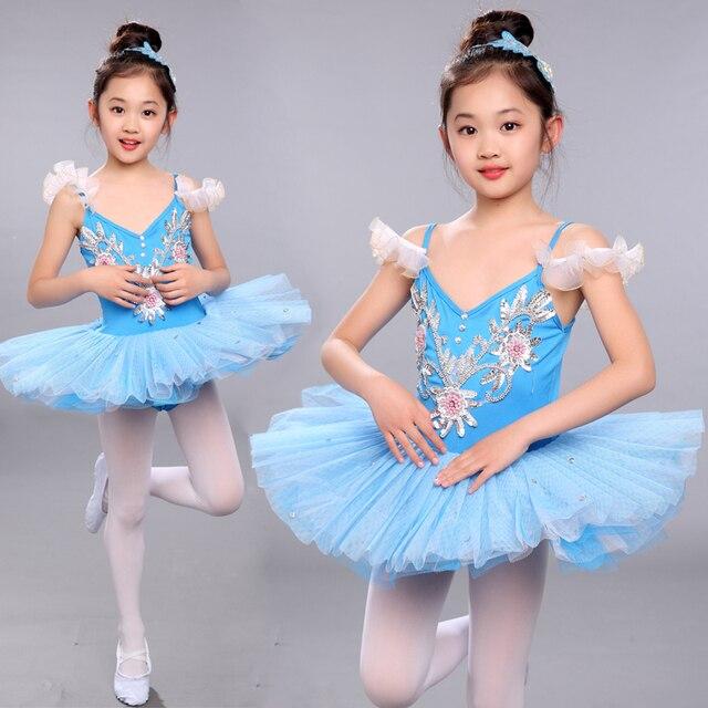 b868df439 Menina Crianças Criança Ballet Tutu Dança Vestido de Ginástica Leotard  Dancewear Roupa do Desgaste da Dança