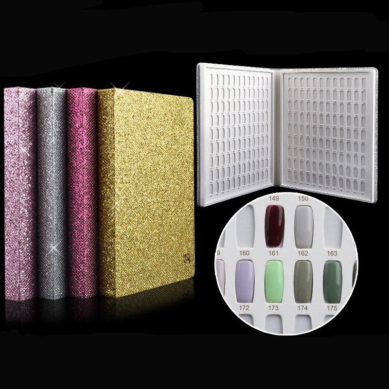 Newest 216 Colors Nail Gel Polish Display Book Chart & Natural Manicure Nail Art Salon Tools High Quality Nails Art Equipment 126 colors double open mosaic nails gel polish display card book chart 3 colors nail art book nail tools with full manicure tips