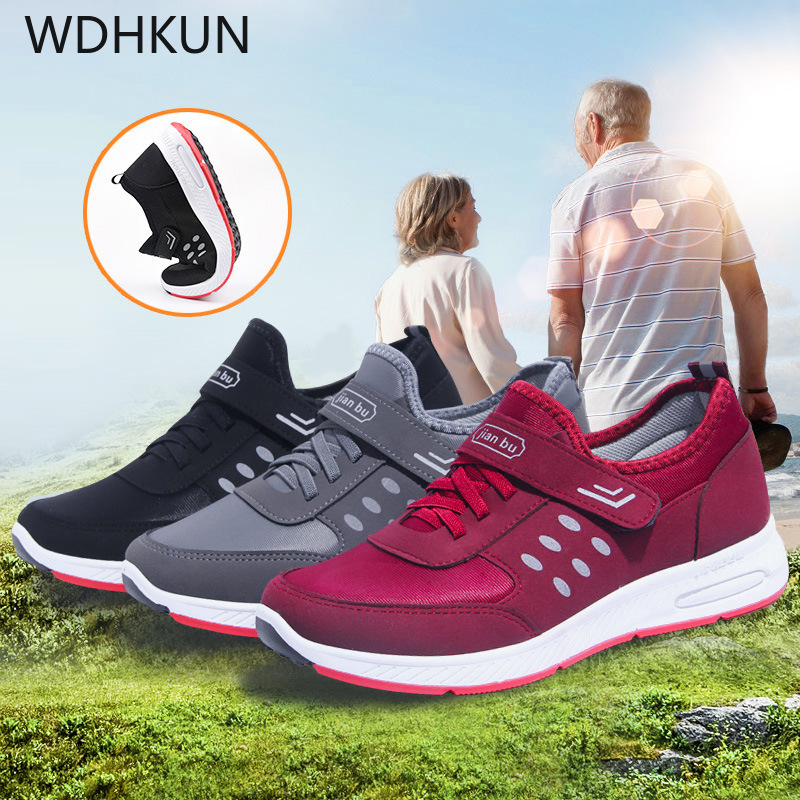 WDHKUN  Women Sneakers 2019 Mesh Solid Casual Shoes Women Breathable Lace Up Ladies Sneakers Zapatillas Mujer