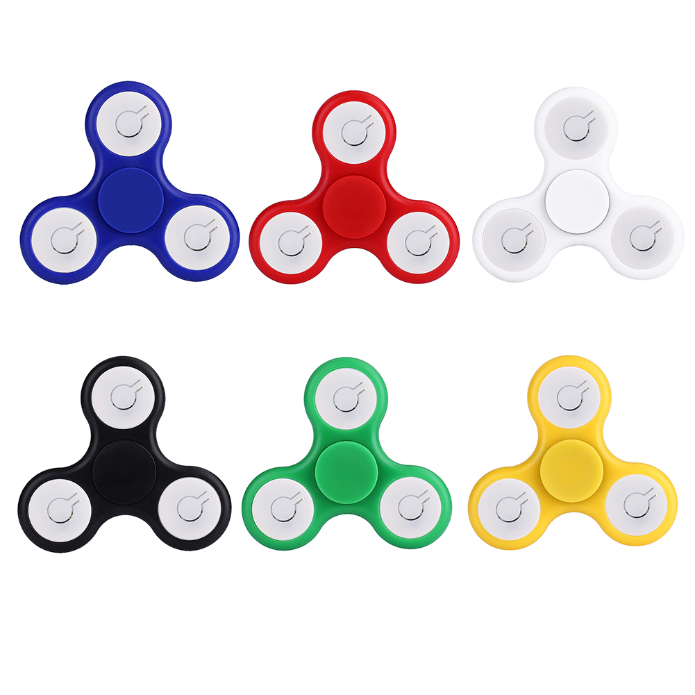 Fidget Tri Spinner Toys Hand Spinners LED Finger Toys For ADHD Adults Children Anxiety Stress Fidget