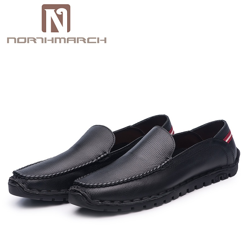NORTHMARCH New Arrivals Men Shoes Genuine Leather Slip-On Men Shoes Leather Breathable Casual Shoes Men Schuhe Herren northmarch new arrivals spring genuine leather shoes men breathable sneakers men comfortable casual shoes zapato hombre