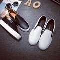 SALES Free shipping 2017 spring new fashion women shoes platform casual solid color PU loafers women fashion