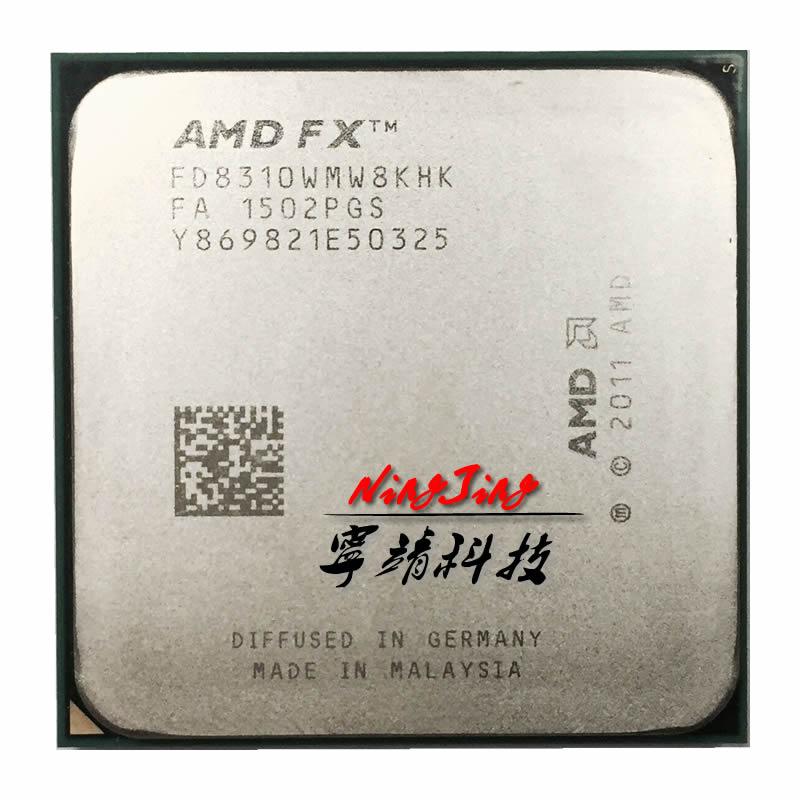 AMD FX Series FX 8310 FX 8310 3 4 GHz Eight Core CPU Processor FD8310WMW8KHK Socket