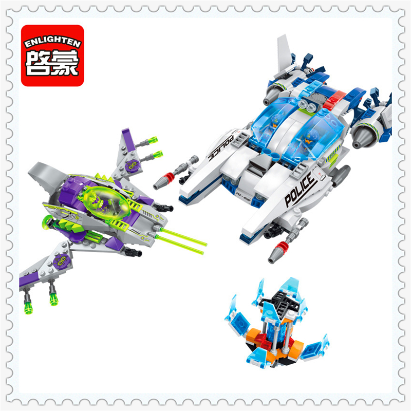 ENLIGHTEN 1616 Space Adventure Star Wars Model Building Block 517Pcs DIY Educational  Toys For Children Compatible Legoe 0367 sluban 678pcs city series international airport model building blocks enlighten figure toys for children compatible legoe