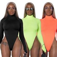 Women Long Sleeve Bodysuit Leotard Top T-Shirt Blouse Romper Jumpsuit