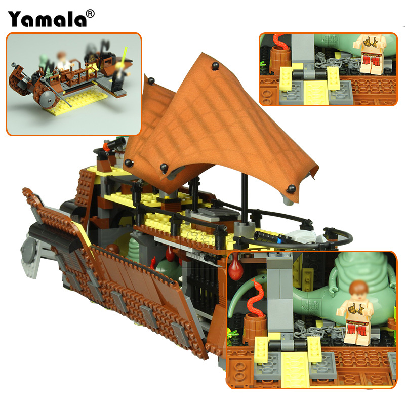 [Yamala]05090 Star Series War 821Pcs Genuine The Ja`s Sail Barge Set Children Educational Building Blocks Bricks Toy Model boy цена