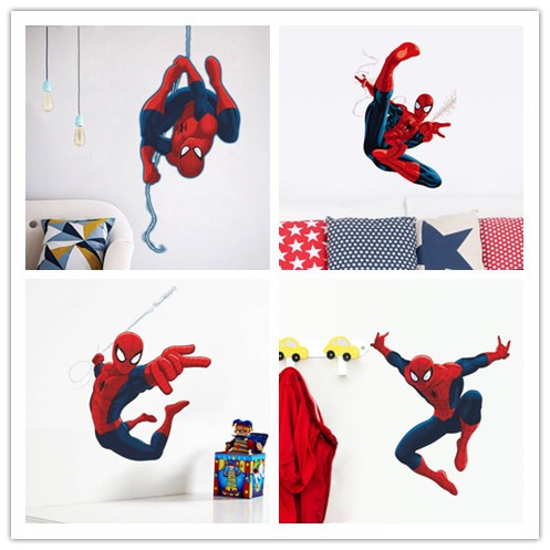 Us 1 56 28 Off Nette Karikatur Spiderman Wandaufkleber Fur Kinderzimmer Aufkleber Wohnkultur Kindergarten 3d Fur Jungen Weihnachten