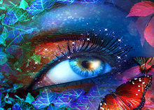 Full Round Drill 5D DIY Diamond Painting Colored eyes Embroidery Cross Stitch Home Decor Gift