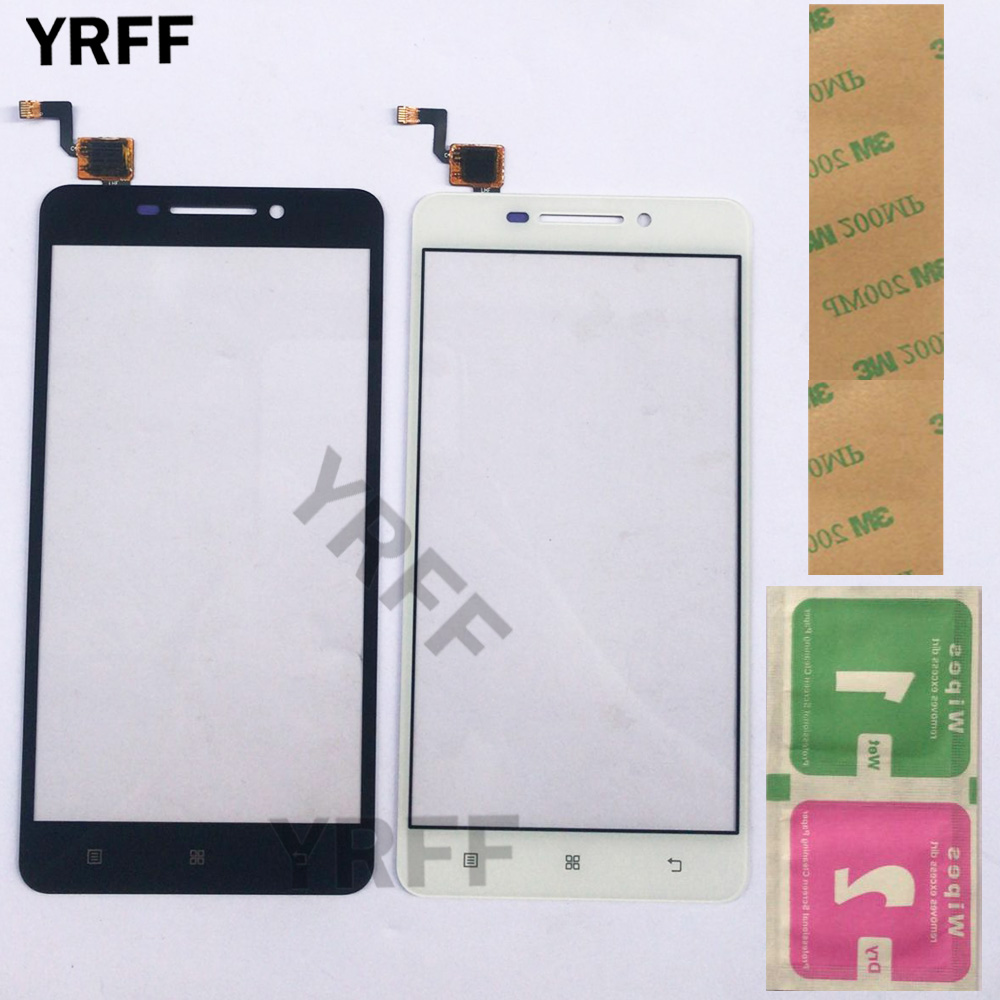 Mobile Touch Screen Front Panel Touchscreen For Lenovo A5000 A 5000 Touch Screen Sensor Digitizer Front Glass Repair 3M Glue