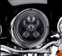 7 Round for Harley LED Projection moto Headlight Motorcycles for Harley Street Glide FLHX Road King