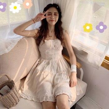 f502087da04 Французский ниша летнее женское платье 2019 Популярные Новые Летние  Корейская версия небольшой платье с высокой талией