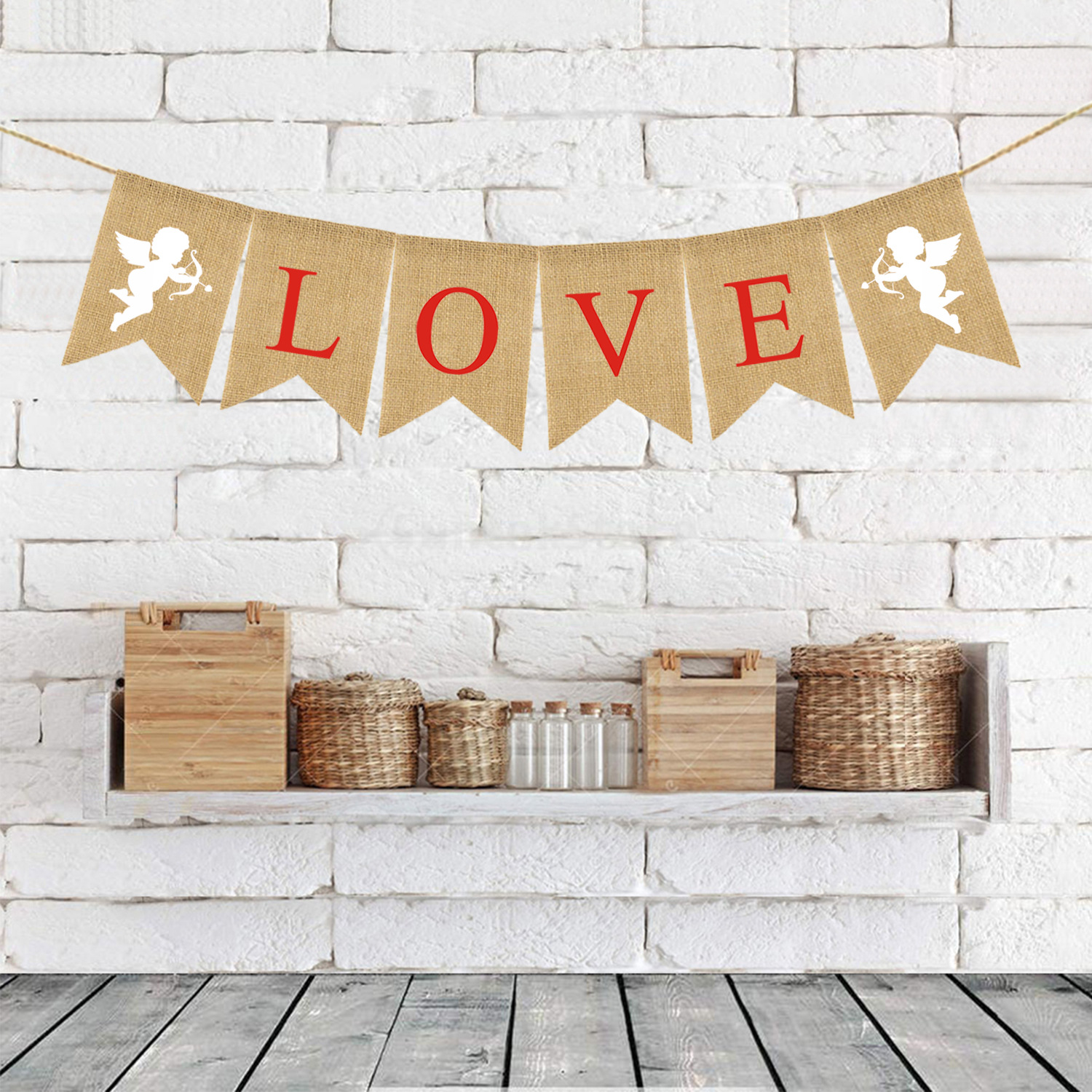 Valentines Day Banner Happy Valentine/'s Day Decorations Flag Hanging Huge Sign Holiday Party Supplies Love Heart Cupid Home Decor for Store,Outdoor,Indoor,Yard,Garden,Porch,Lawn