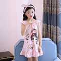 100% Cotton Summer Girls Night Dress Sleep One-piece Skirt Nightgown Cartoon Pajamas Homewear Baby Kids Enfant Children Clothes