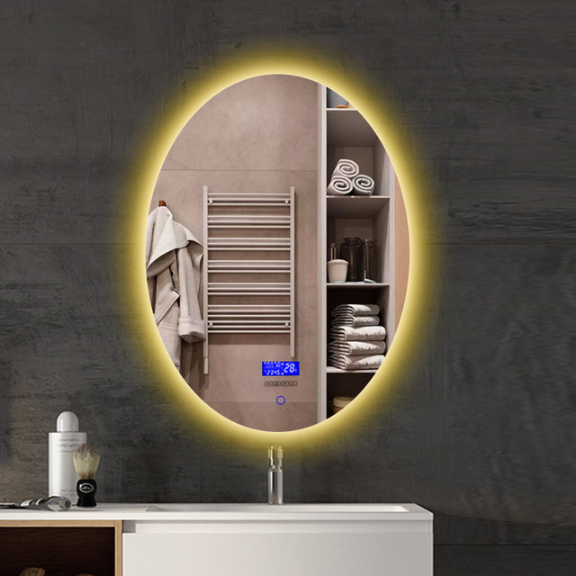 Intelligent Anti-fog Bathroom Vanity Mirror Touch LED Mirror Wall Makeup Screen Show Time Date Temperature And Bluetooth Music