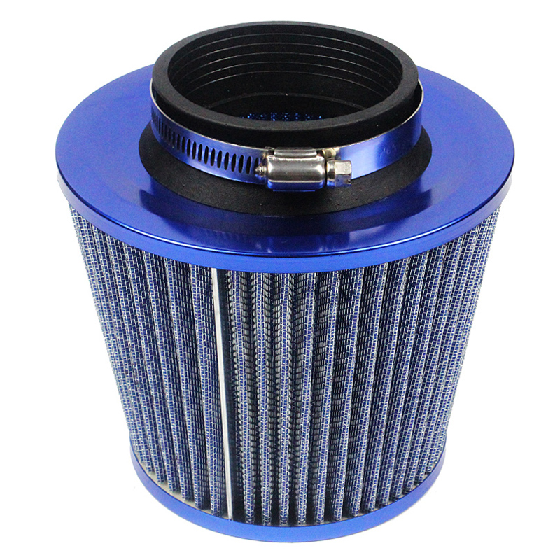 Cold Air Intake Filter Universal Round BLUE For Grand Cherokee//Grand Wagoneer